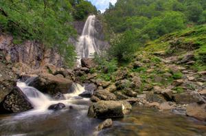 See Aber Falls, Wales