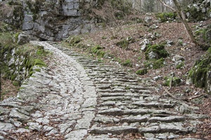 Walk up the 4,444 steps of Calà del Sasso, Italy