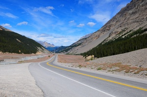 Drive or Cycle Icefields Parkway (Columbia Icefield), Canada