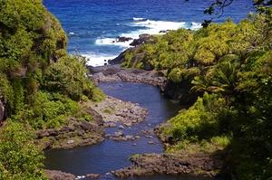 Swim in the Seven Sacred Pools (ʻOheʻo Pools), Maui, Hawaii
