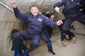 "Experience Zero Gravity on a ""Vomit Comet"" Ride"